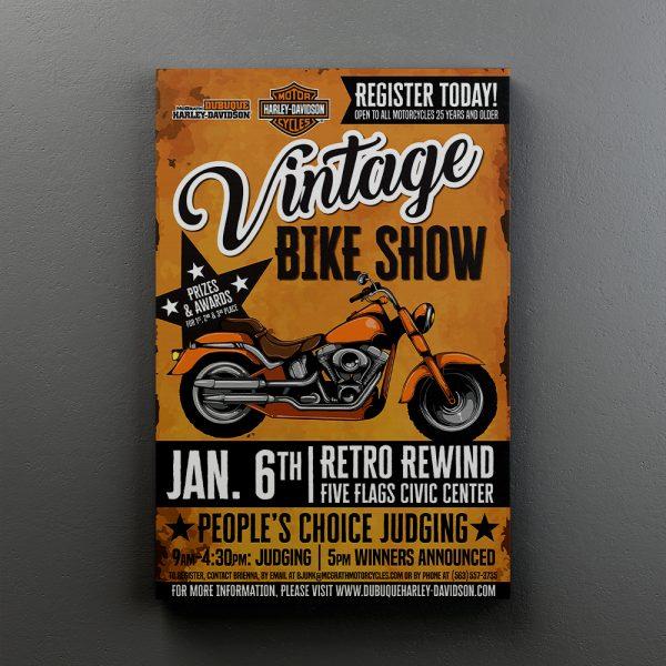 Cuadro Decorativo Harley Davidson