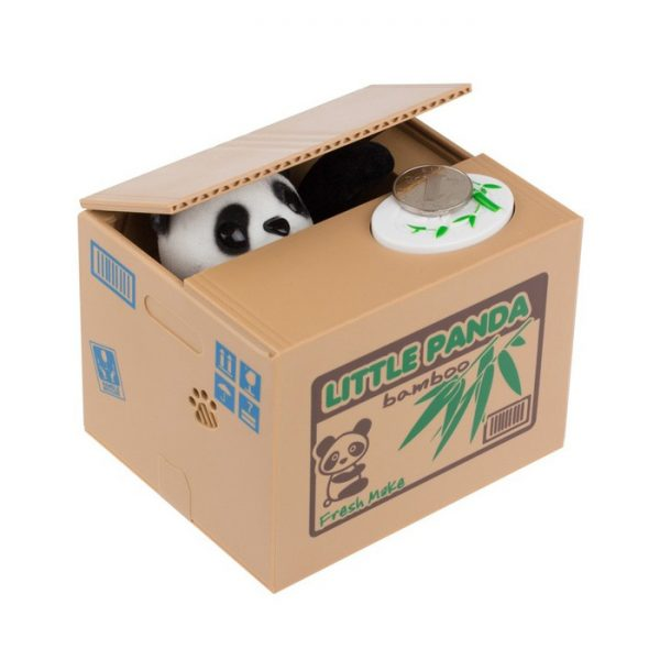 Alcancía Panda Robot Monedas