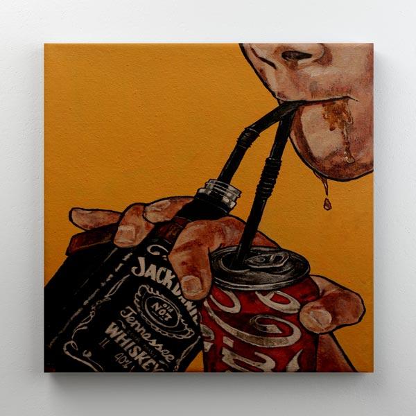 Cuadro Jack Daniels & Coke 30x30