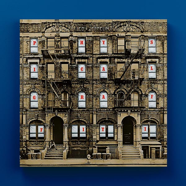 Cuadro Madera Led Zeppelin 30x30