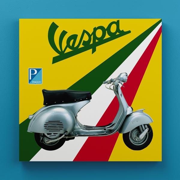 Cuadro Madera Vespa Vintage 30x30