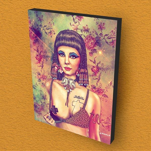 Cuadro Decorativo Cleopatra Madera 30x40