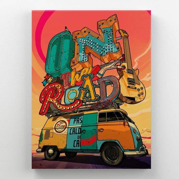 Cuadro Van Combi Madera 30x40