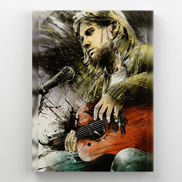Cuadro Kurt Cobain Madera 30x40
