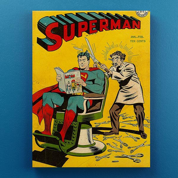 Cuadro Decorativo Madera Superman