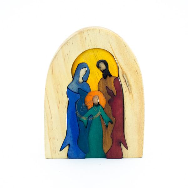 Sagrada Familia Tallada Madera Decorativo