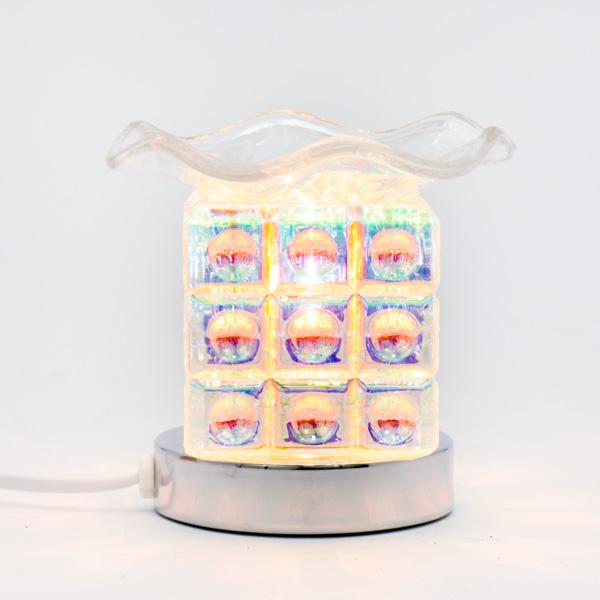 Lámpara Pebetero Táctil Cubos + Esencia