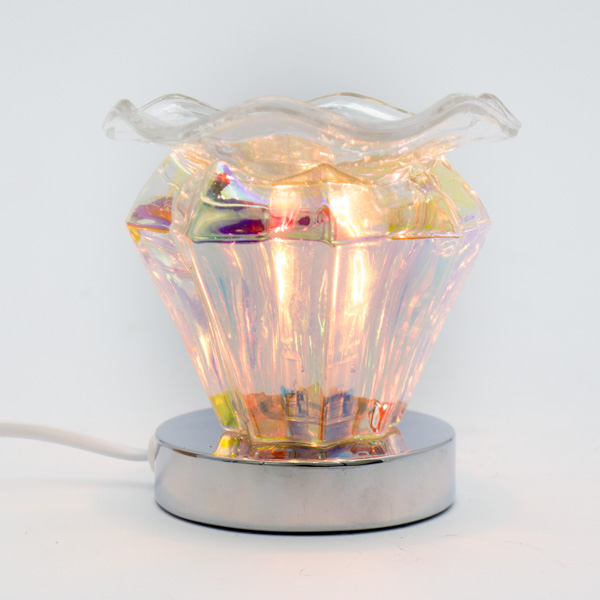 Lámpara Pebetero Táctil Diamante + Esencia