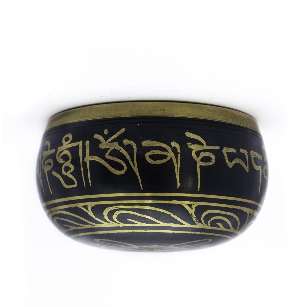 Cuenco Tibetano Azul & Dorado en Bronce 13 cms
