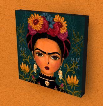 Cuadro Madera Frida Kahlo Decorativo