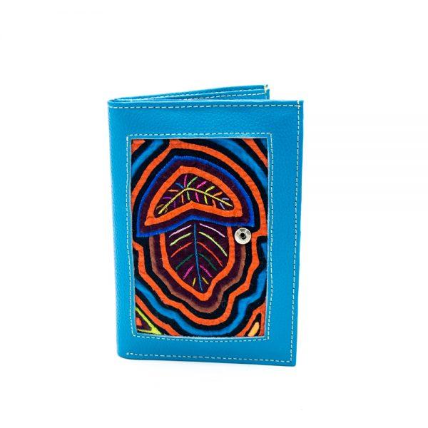 Porta Pasaporte Billetera Mola & Cuero Colombiano: