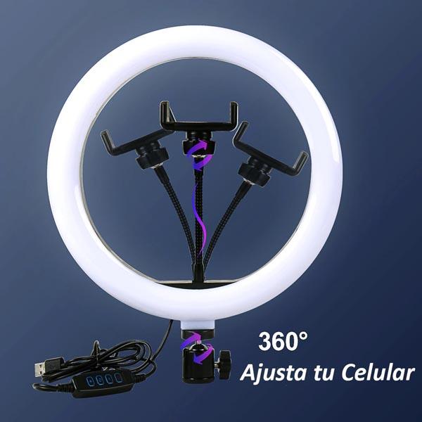 Aro de Luz LED 26 cm: Fotos & Videos Profesionales + Trípode Ajustable