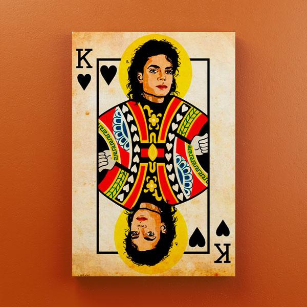 Cuadro Decorativo Michael Jackson en Madera 20x30 cm