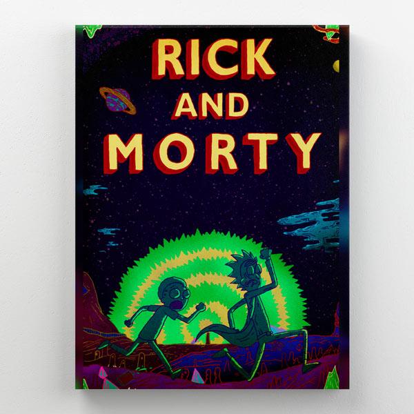 Cuadro Decorativo Rick & Morty en Madera 30x40 cm