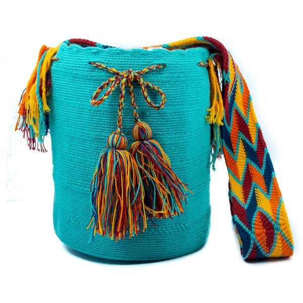 Mochila Wayúu Original Colombiana: Encuentra las mejores Mochilas artesanales elaboradas por indígenas Wayúu de la Guajira en Crafts Colombia.