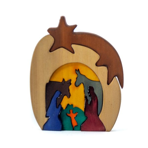 Familia Sagrada Madera Tallada Decorativa Hecho a Mano